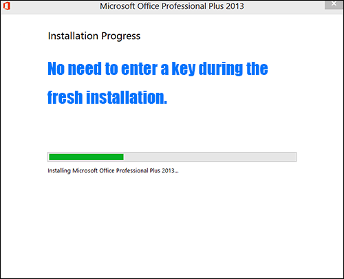office pro plus 2013 online activation step 1