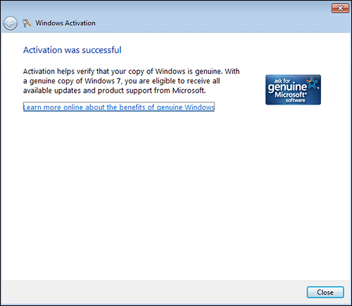 windows 7 online activation step 3